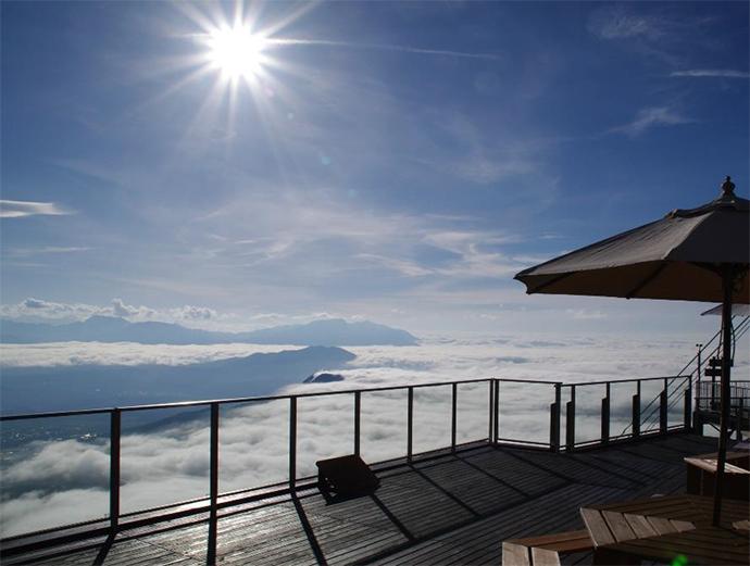 ラグジュアリーなカフェから眺める標高1,770mの絶景。雲の上のカフェレストラン誕生!竜王マウンテンパーク「SORA terrace cafe」2017年8月10日(木)オープン