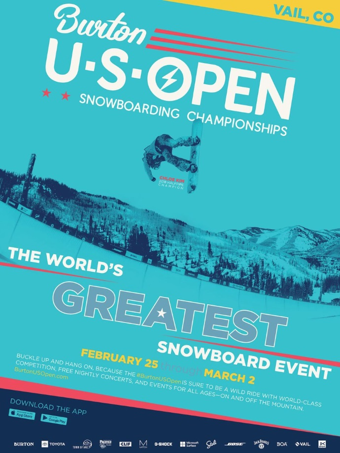 THE 2019 BURTON US OPEN SNOWBOARDING CHAMPIONSHIPS開催。