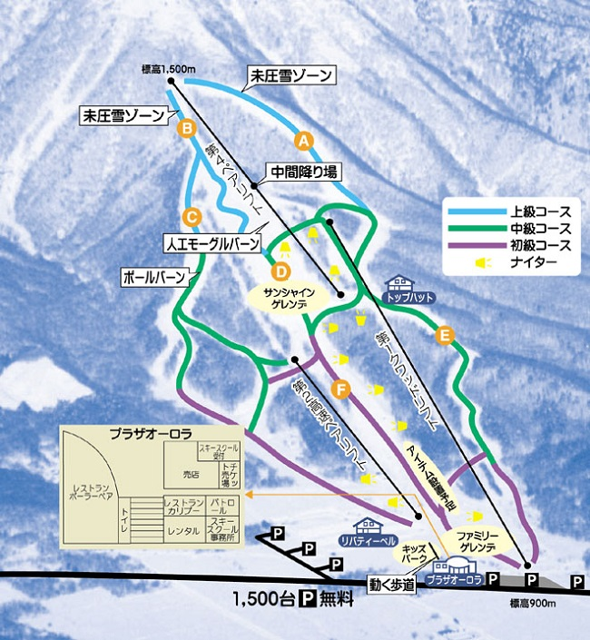 Iizuna Resort ski trail map