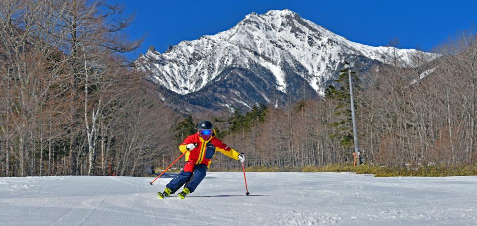 目の前に広がる大パノラマ!!|サンメドウズ清里スキー場
