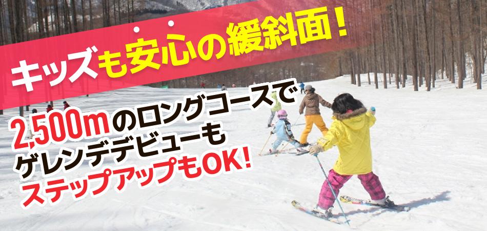 初級者OK!!緩斜面で超楽々のロングコース|水上高原スキーリゾート