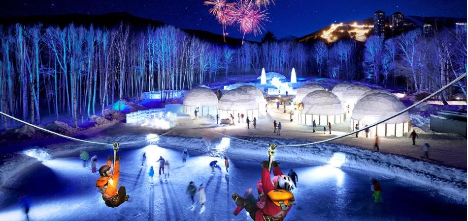 氷の街「アイスヴィレッジ」|星野リゾート トマム スキー場