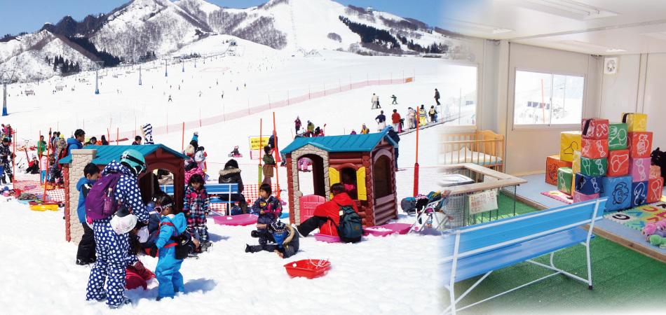 ちびっこ集まれ!雪のゆうえんち「キッズパラダイス」 岩原スキー場