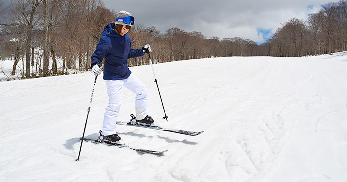スキーで斜面を上る練習をしてみよう surf snow