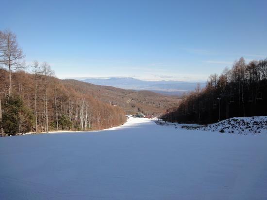 雪が少ない〜|八千穂高原スキー場のクチコミ画像