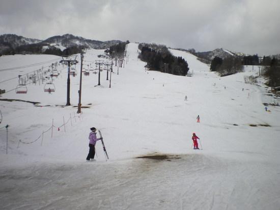 雪不足でした|戸狩温泉スキー場のクチコミ画像