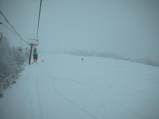至極の1日:頂上のゲレンデが今日オープン|鹿沢スノーエリアのクチコミ画像