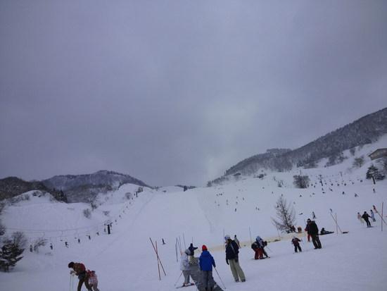 雪はふかふか、ガス大発生。|おじろスキー場のクチコミ画像