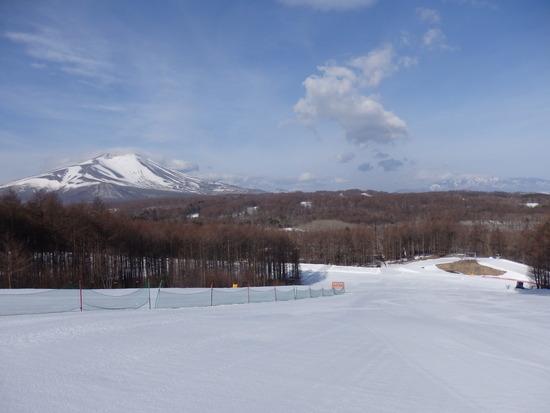 浅間山の雪がかなり溶けていました|軽井沢スノーパークのクチコミ画像