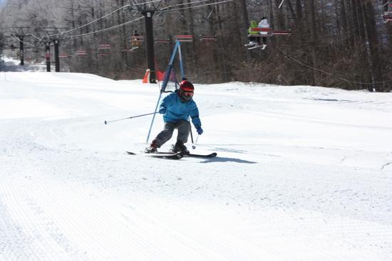 ゲレンデはフラットで滑りやすい!|湯の丸スキー場のクチコミ画像2