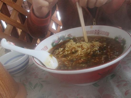 名物「激辛・野沢菜担担麺」|野沢温泉スキー場のクチコミ画像