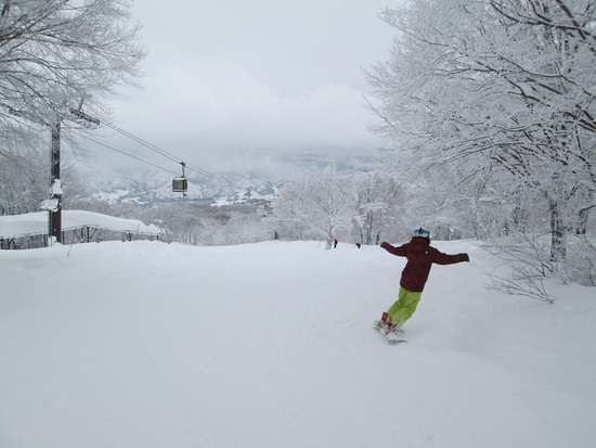 穴場コース「湯の峰」 野沢温泉スキー場のクチコミ画像