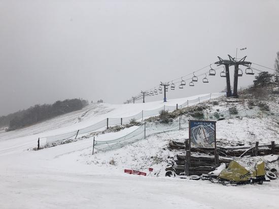 午前中は寒かったです|菅平高原スノーリゾートのクチコミ画像