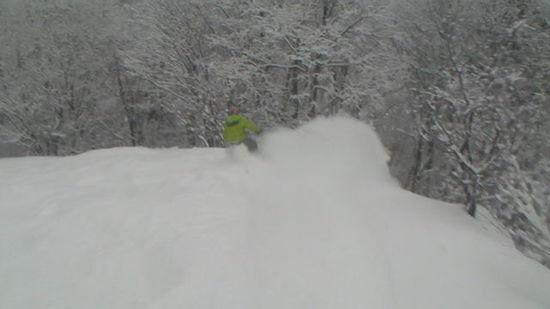 雪質は最高です 平湯温泉スキー場のクチコミ画像2