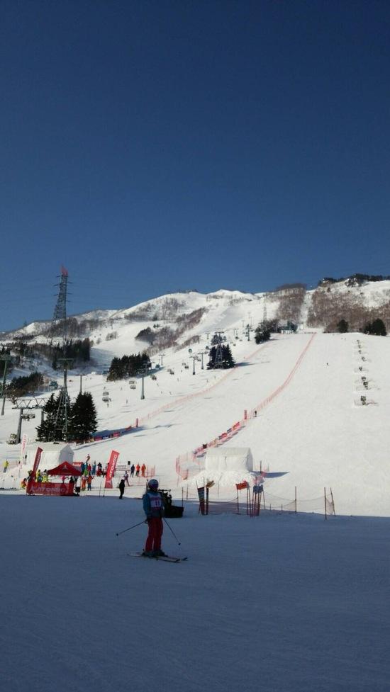 滑りやすく、わかりやすいコースレイアウト|苗場スキー場のクチコミ画像