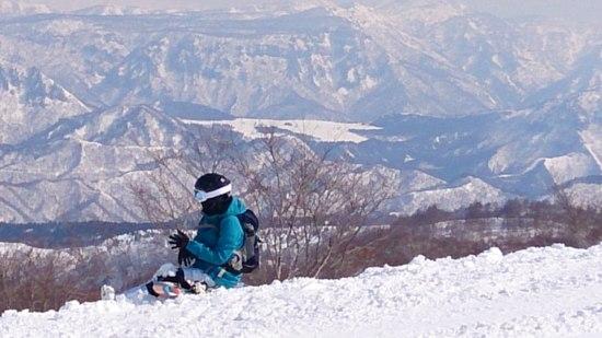 山頂付近は最高でした。 野沢温泉スキー場のクチコミ画像