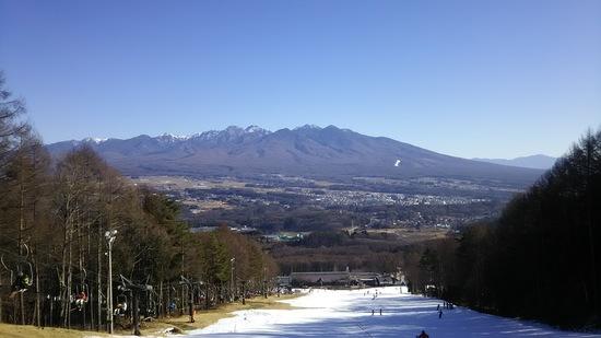 雪が少ない|富士見パノラマリゾートのクチコミ画像