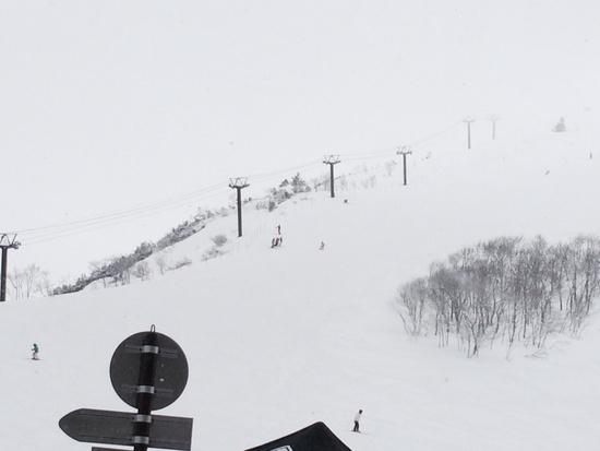 吹雪で前見えませ〜ん|白馬八方尾根スキー場のクチコミ画像