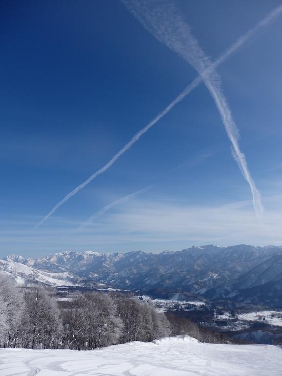 日影コースは非圧雪バーンの練習に最適|白馬岩岳スノーフィールドのクチコミ画像