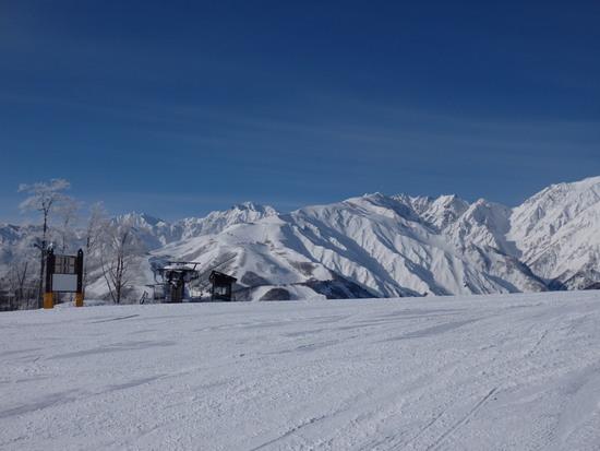 日影コースは非圧雪バーンの練習に最適|白馬岩岳スノーフィールドのクチコミ画像2