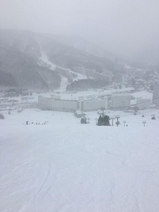 今シーズン初の吹雪|苗場スキー場のクチコミ画像
