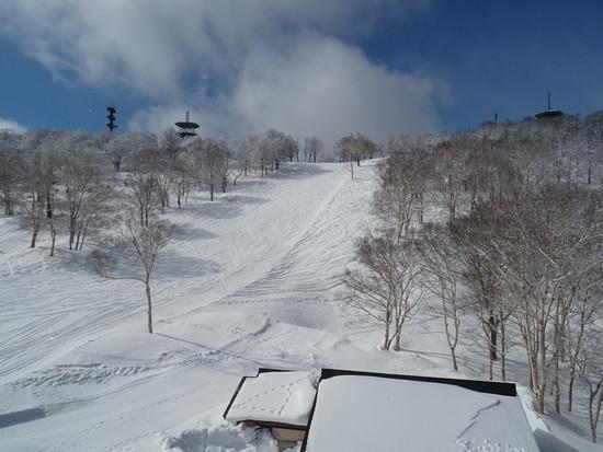 毛無山山頂からの滑り|野沢温泉スキー場のクチコミ画像