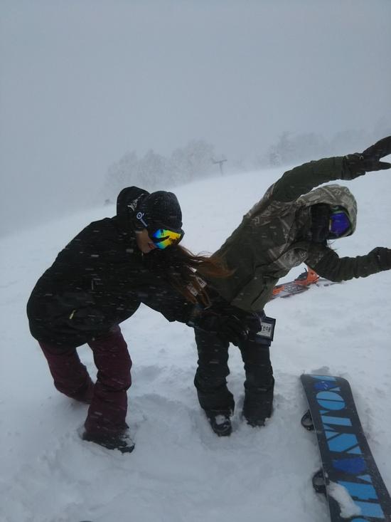 吹雪いてます|ハンターマウンテン塩原のクチコミ画像