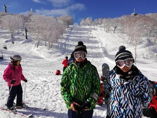 雪質も天気も最高でした♪|野沢温泉スキー場のクチコミ画像