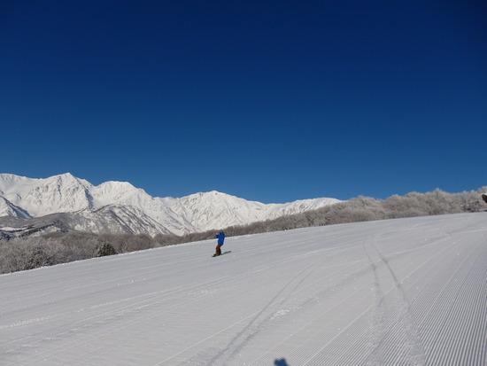 山頂から白馬三山の景色が最高|白馬岩岳スノーフィールドのクチコミ画像