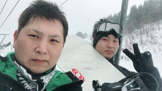お坊ちゃん初滑り!!|鷲ヶ岳スキー場のクチコミ画像