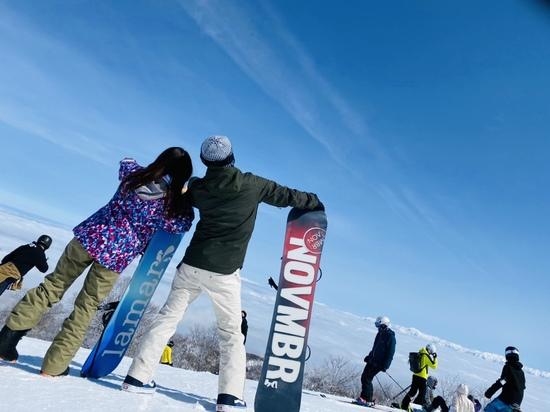 一面の雪景色!|野沢温泉スキー場のクチコミ画像1