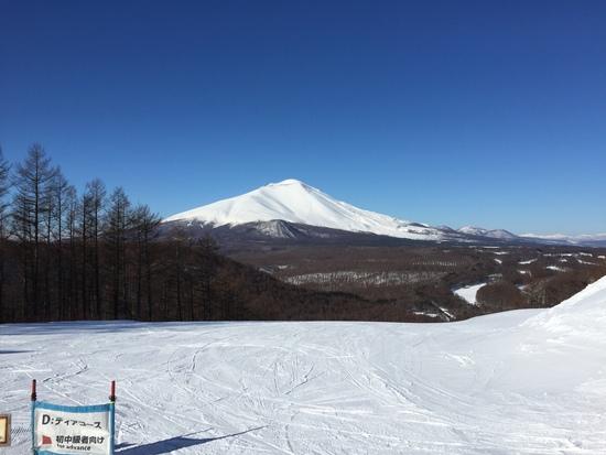 雄大なアサマ山が間近に|軽井沢スノーパークのクチコミ画像1
