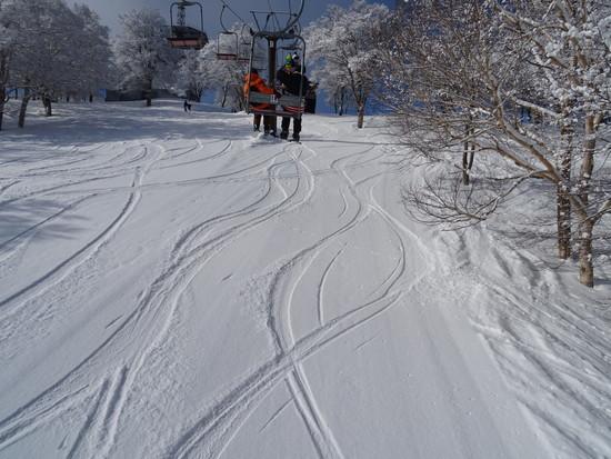 毛無山の雪質 野沢温泉スキー場のクチコミ画像