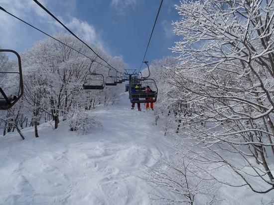 パウダーがわずか残っていました。|斑尾高原スキー場のクチコミ画像