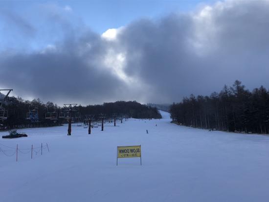 全長1km近いコースが滑れた!|湯の丸スキー場のクチコミ画像
