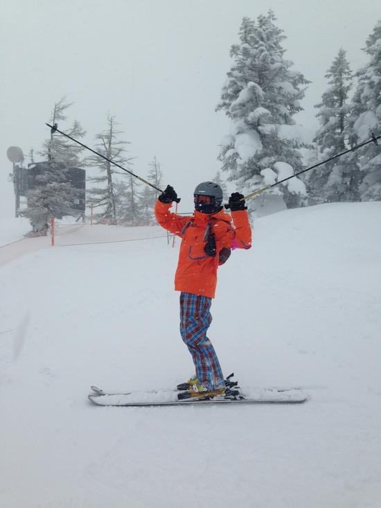 いいパウダーいただきました|苗場スキー場のクチコミ画像