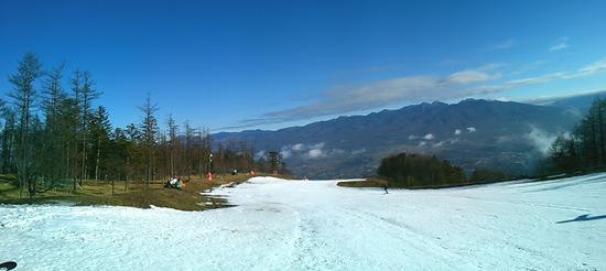 暖冬時は人工雪スキー場は強い