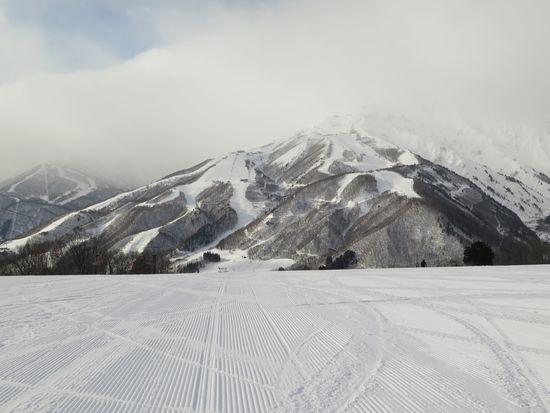太陽と雪と雲と!|白馬岩岳スノーフィールドのクチコミ画像2