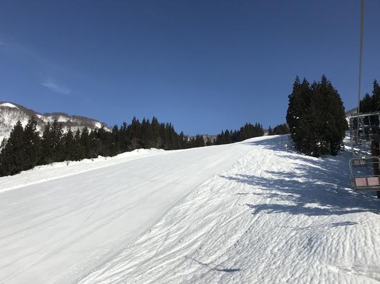 感動の眺めからロング中急斜面を一気に滑降|六日町八海山スキー場のクチコミ画像2