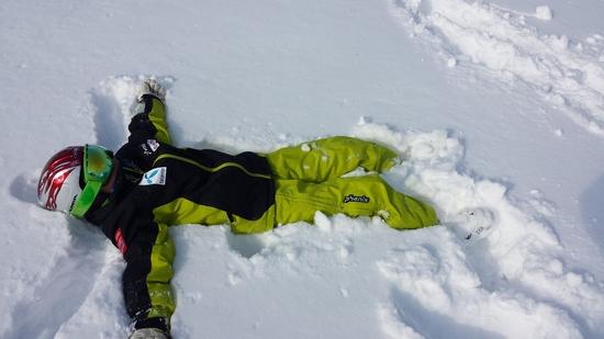 筍山ゲレンデは雪フカフカ⛄|苗場スキー場のクチコミ画像