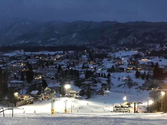 夜景を見ながらのスキー|白馬八方尾根スキー場のクチコミ画像