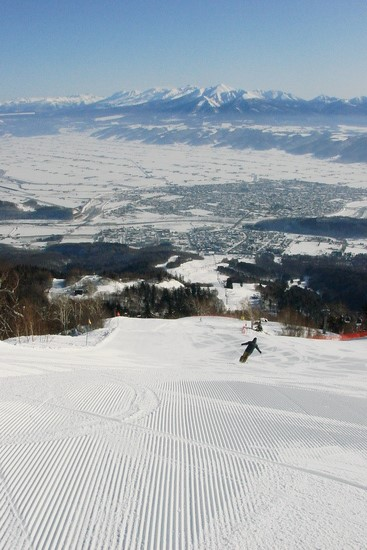 快感!朝イチのグルーミングバーンを独り占め|富良野スキー場のクチコミ画像