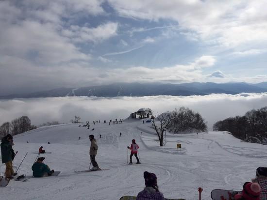 雲海ゲレンデに挑む!|戸狩温泉スキー場のクチコミ画像1