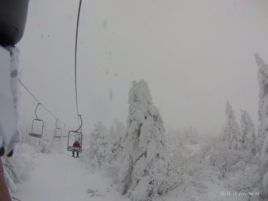 やっと蔵王らしい景色に|蔵王温泉スキー場のクチコミ画像