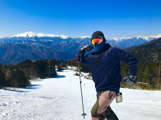 絶景を味わいながらの滑降。|信州松本 野麦峠スキー場のクチコミ画像