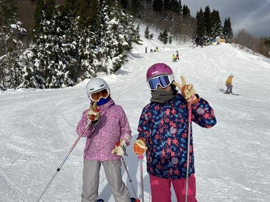 子供と一緒に快晴のおじろ|おじろスキー場のクチコミ画像