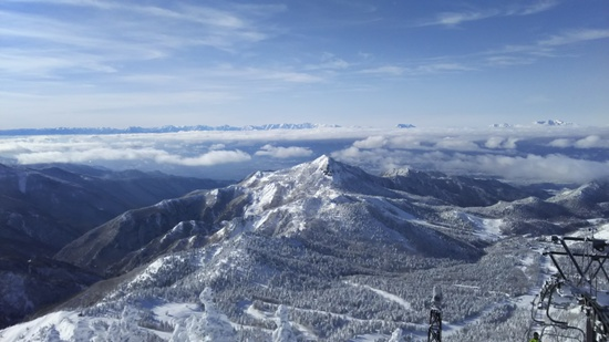 極上の景色|志賀高原 熊の湯スキー場のクチコミ画像