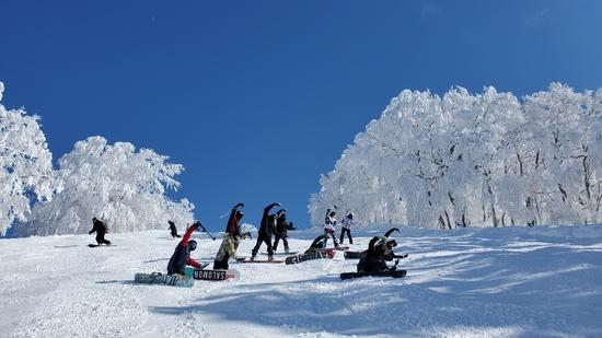 青&白! 野沢温泉スキー場のクチコミ画像2
