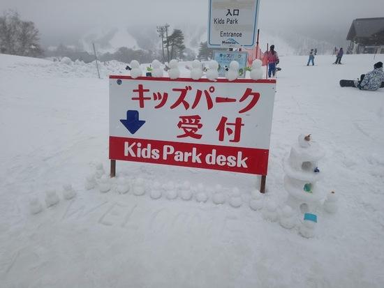 キッズパークにかわいい雪だるまが|斑尾高原スキー場のクチコミ画像