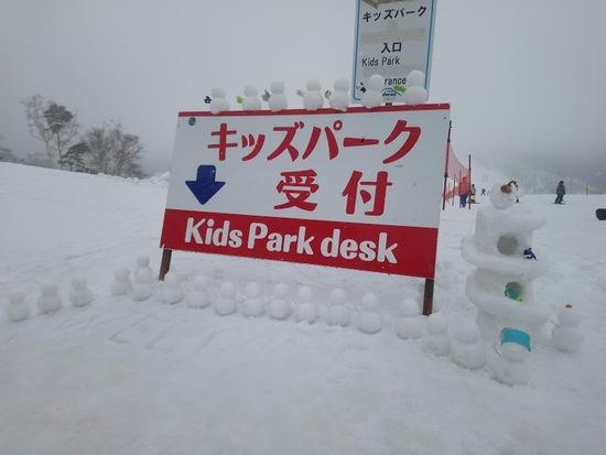 キッズパークにかわいい雪だるまが|斑尾高原スキー場のクチコミ画像2